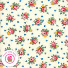 Moda Sweet Harmony 21752 12 Ivory Cream Pink Floral American Jane Quilt Fabric