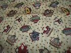 Santa Father Christmas Bty Cotton Quilt Fabric U-pick See Listing For Details