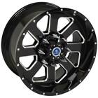 Black Machined Face Wheel 20x10 Fp03 Style For 1999-2017 Cadillac Escalade