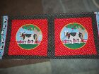 Pillow Panel Animals Rooster Cat Dog Safari Cotton Fabric U-pick Read For Info