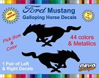 Ford Mustang Pony Horse Decal Sticker Ford 5.0 Gt Emblem Badge 302 Racing 1 Pair