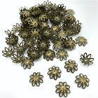100pcs 14mm Jewelry Finding Alloy Beads Cap Ancient Charms Flower Jewelry Making