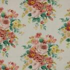 3 Colors Floral Upholstery Drapery Fabric Coral Teal Rmil14