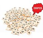 Wooden Scrabble Letters Alphabet Tiles Handcraft Letters Numbers For Gametoys