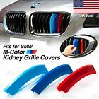 M-power Kidney Grille Tri-color 3 Covers Insert Clips Fits Bmw All Series Here
