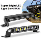 Slim Single Row Cree Led Light Bar 6 20 40in Spot Flood Combo Offroad Driving
