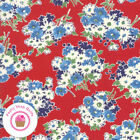 Moda Good Times 21771 12 Red Floral American Jane Quilt Fabric 1930s Repro