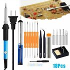 65pcs Wood Burning Kit Set Tool Pen Pyrography Supplies Iron Tips Art Craft 60w