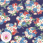 Moda Good Times 21771 16 Navy Blue Floral American Jane Quilt Fabric 1930s Repro
