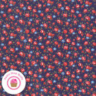 Moda Good Times 21773 16 Navy Blue Floral American Jane Quilt Fabric 1930s Repro