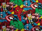 Marvel Avengers Superheroes Fabric Packed Comic Spiderman Captain America