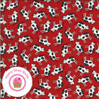 Moda Animal Crackers 5801 11 Red Cows Sweetwater Quilt Fabric