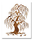 Weeping Willow Tree Stencil - Reusable Color Draw Paint Custom Stencil Art