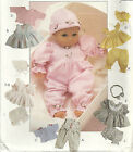 Mccall 8554 8-16 Baby Doll Clothes Wardrobe Pattern -- New Or Cut