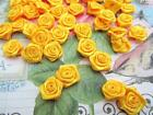 100 Satin Ribbon Rose Flower 16mm Appliquetrimcraftsewingbow F84-pick Color