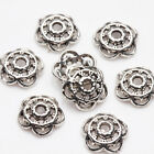 New 100200pcs Tibetan Silver Carved Flower Shaped Hollow Out Bead Caps Diy 8mm