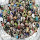 2050pcs Cloisonne Flower Pattern Diy Craft Mixed Round Spacer Beads 681014mm