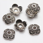 Lots Tibet Silver 100pcs Charms Spacer Bead Caps 678910mm Jewelry Findings