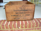 RARE ADVERTISING ENCYCLOPEDIA BRITANNICA WOOD CRATE COFFEE TABLE BOX LARGE 1926
