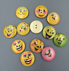 Mix Smilegrimace Wooden Buttons Sewing Craft Decorative 2 Holes 25mm