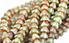 25 Bell Flower Czech Glass Beads 8mm Opaque Transparent Vitral Luster Colors