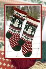 Annies Woolens Christmas Stocking Knitting Patterns- Well Charted Personalize