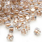 100 Miyuki Glass Triangle Seed Beads 50 Inside Color Two Tone Lined Beads
