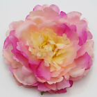 1-5-10pcs Red Artificial Peony Silk Flowers Heads High-quality Floral Crafts New
