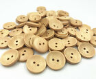 Wooden Buttons Round 2-holes Sewing Scrapbooking Crafts Accessories 20mm