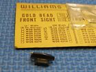 New Old Stock Williams Gold Bead Front Sight Savage Winchester Marlin Colt Sears