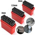 2mm-12.5mm Alphabet Stamps Craft Set Letters Punch Steel Metal Leather Tool Case