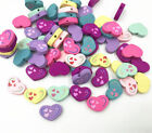 Wooden Beads Heart-shape Mix Color Diy Decoration Jewelry Accessories 20mm