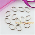 250 New Gold Dull Silver Bronze Plated Connectors 5x7mm Oval Jump Open Rings