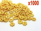 1000pcs Gold Plated Daisy Flower Spacer Beads Jewellery Findings 4mm6mm