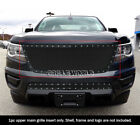 For 2015-2018 Chevy Colorado Stainless Steel Black Mesh Rivet Studs Grille