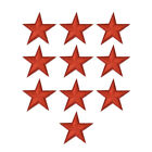 Embroidery Sew On Iron On Patch Badge Clothes 10pcs Star Fabric Applique Sequins