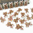 Christmas Deer Wooden Buttons Kids Christmas Craft Decoration Sewing 28mm