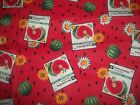 Fruits Food Kitchen Cooking Bty Cotton Quilt Fabric U-pick See Listing For Info