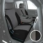 For Toyota Previa 94-97 Canvas 1st Row Charcoal W Black Custom Seat Covers