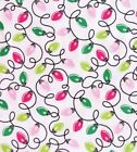 Michael Miller Preppy Christmas Quilt Fabric Lights Style Cx-6631 Multi