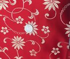 Satin Jacquard Flower Vine Floral Fabric Bty Damask Brocade Silky Dress Chinese