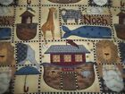 Noahs Ark Bible Animals Religious Bty Cotton Quilt Fabric U-pick Read For Info