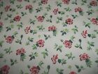 Flowers On White Cream Tan Spring Bty Cotton Fabric U-pick Read Listing For Info