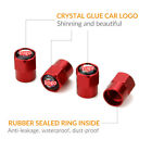 Red Metal Car Wheel Tire Valves Dust Stems Air Cap For Bmw Honda Toyota And More