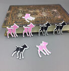 Mixed Deer Wooden Buttons Sewing Scrapbooking Decorations Handicraft 29mm1.1 In