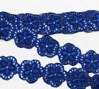 5 Yards Sequin Embroidery Flower Lace Applique Sewing Clothing Decoration Diy