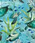 Timeless Treasures Swimming Sea Turtles Blue Quilt Fabric Style C7955