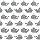Anchors Away Fabric Tiny Whales On White Oop Quilt Shop Quality Cotton