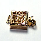 Wholesale Jewelry Making Gold Plated Hollow Flower Box Clasps 9x9mm 10pcs