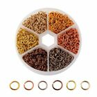 Lotsbox 6mm Open Jump Rings Beads 6-color Circle Jewelry Making Findings Diy